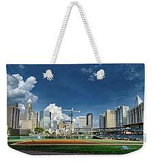 Bbt Baseball Charlotte Nc Knights Baseball Stadium And City Skyl Weekender Tote Bag