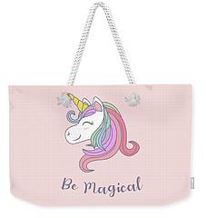 Be Magical - Baby Room Nursery Art Poster Print Weekender Tote Bag