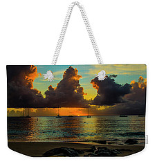 Weekender Tote Bag featuring the photograph Beach At Sunset 2 by Stuart Manning