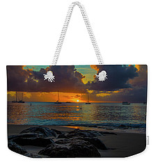 Weekender Tote Bag featuring the photograph Beach At Sunset by Stuart Manning