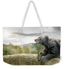 Bear In Tree At Smoky Mountains Park Weekender Tote Bag