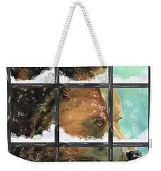 Bear Outside My Window Weekender Tote Bag