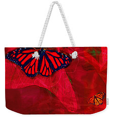 Beautiful And Fragile In Red Weekender Tote Bag