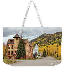 Weekender Tote Bag featuring the photograph Beautiful Small Town Rico Colorado by James BO Insogna