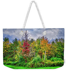 Weekender Tote Bag featuring the photograph Beauty In The Fall Forest by Lynn Bauer