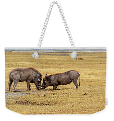 Weekender Tote Bag featuring the photograph Beauty On The Hoof, The Warthog by Kay Brewer