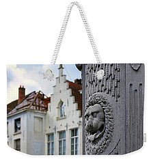 Weekender Tote Bag featuring the photograph Belgian Coat Of Arms by Nathan Bush