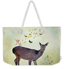 Weekender Tote Bag featuring the digital art Believe by Sue Collura