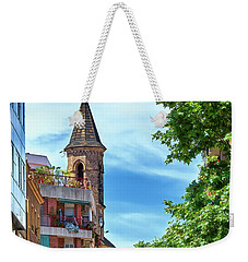Weekender Tote Bag featuring the photograph Bell Tower And Apartments In Barcelona by Eduardo Jose Accorinti