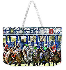 Belmont Park Starting Gate 1 Weekender Tote Bag