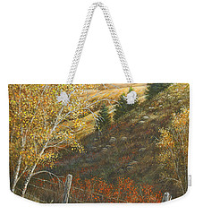 Weekender Tote Bag featuring the painting Belt Butte Autumn by Kim Lockman