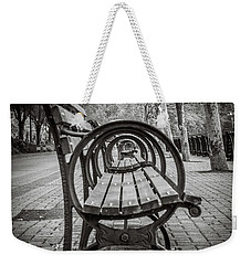 Weekender Tote Bag featuring the photograph Bench Circles by Steve Stanger