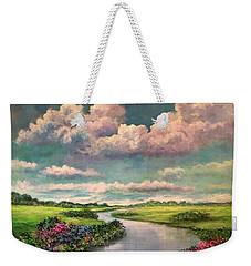 Beneath The Clouds Of Paradise Weekender Tote Bag
