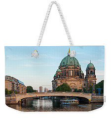 Berliner Dom And River Spree In Berlin Weekender Tote Bag