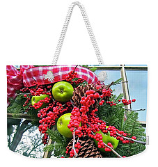 Weekender Tote Bag featuring the photograph Berry Christmas by Don Moore