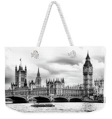 Big Clock In London Soft Weekender Tote Bag