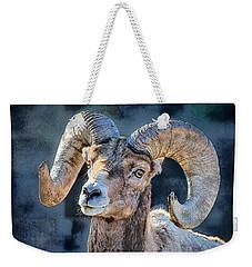 Weekender Tote Bag featuring the digital art Bighorn Sheep by Pennie McCracken