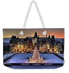 Biltmore Christmas Night All Covered In Snow Weekender Tote Bag