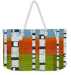 Birches With Olive And Orange 2 Weekender Tote Bag