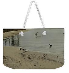 Birds On Beach Weekender Tote Bag