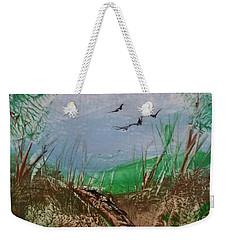 Birds Over Grassland Weekender Tote Bag