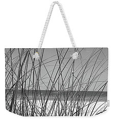 Black And White Beach View Weekender Tote Bag