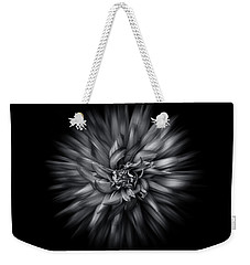 Weekender Tote Bag featuring the photograph Black And White Flower Flow No 5 by Brian Carson