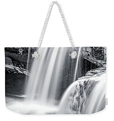 Weekender Tote Bag featuring the photograph Black And White Ludlow Falls by Dan Sproul