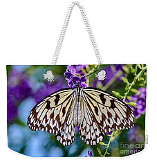 Black And White Paper Kite Butterfly Weekender Tote Bag