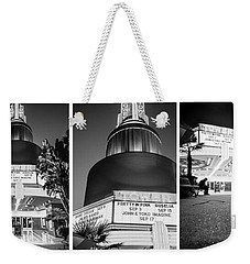 Weekender Tote Bag featuring the photograph Black And White Triptych- by JD Mims