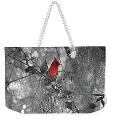 Black And White With A Splash Of Color Weekender Tote Bag