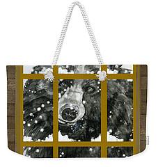 Black Bear, Outside My Window Weekender Tote Bag