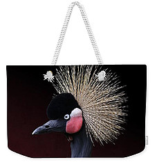 Weekender Tote Bag featuring the photograph Black Crowned Crane Photographic Portrait by Debi Dalio