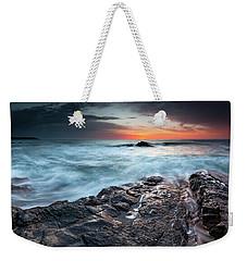 Black Sea Rocks Weekender Tote Bag
