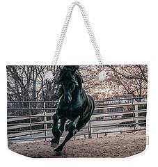 Black Stallion Cantering Weekender Tote Bag