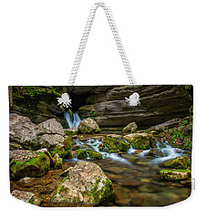 Weekender Tote Bag featuring the photograph Blanchard Springs Headwater by Andy Crawford