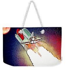 Weekender Tote Bag featuring the digital art Blast Off To Mars by Pennie McCracken