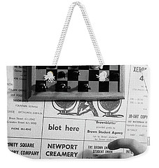Blot Here, Aka Black's Move, 1972 Weekender Tote Bag