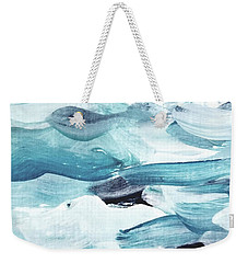Weekender Tote Bag featuring the painting Blue #13 by Maria Langgle