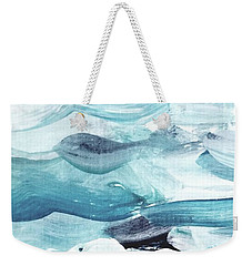 Weekender Tote Bag featuring the painting Blue #14 by Maria Langgle