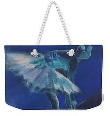 Blue Ballerina Weekender Tote Bag