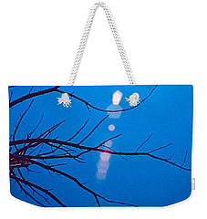 Weekender Tote Bag featuring the digital art Blue by Christopher Meade