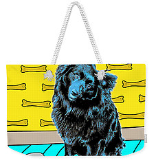 Weekender Tote Bag featuring the photograph Blue Dog by Lou Novick