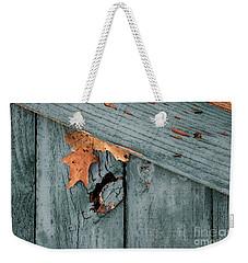 Blue Fence Weekender Tote Bag