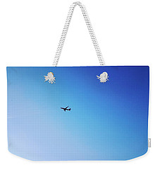 Weekender Tote Bag featuring the photograph Blue Freedom by Lucia Sirna