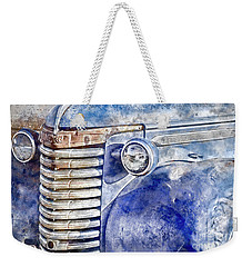 Weekender Tote Bag featuring the photograph Blue Gmc Truck by Brad Allen Fine Art