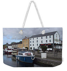 Weekender Tote Bag featuring the painting Richmond Harbour  In Cloondara, Co Longford by Val Byrne