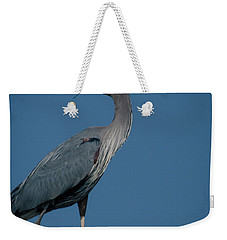 Weekender Tote Bag featuring the photograph Blue Heron 2011-0322 by Donald Brown