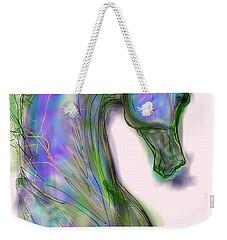 Blue Horse Painting Weekender Tote Bag