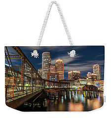 Blue Hour In Boston Harbor Weekender Tote Bag